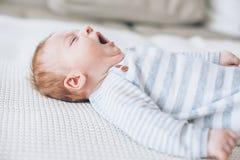 2 maand oude baby op een deken Royalty-vrije Stock Foto