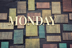 Maandag Royalty-vrije Stock Afbeeldingen