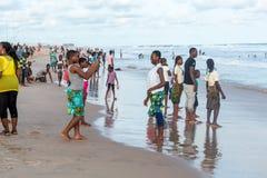 Maandag middag bij Obama-Strand, Cotonou royalty-vrije stock foto