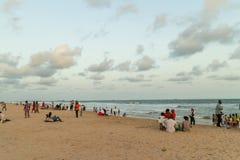 Maandag middag bij Obama-Strand, Cotonou stock afbeelding