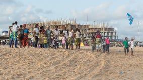Maandag middag bij Obama-Strand, Cotonou stock afbeeldingen