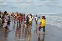 Maandag middag bij Obama-Strand, Cotonou royalty-vrije stock afbeelding