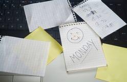 Maandagglimlach stock afbeelding