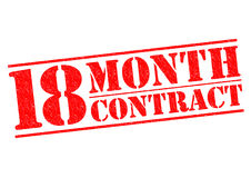 18 MAANDcontract Stock Foto's