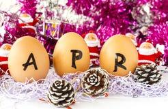 Maandelijkse kalender - April Stock Afbeelding