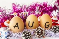 Maandelijkse kalender - Augustus Royalty-vrije Stock Afbeelding