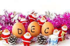 Maandelijkse kalender - December Royalty-vrije Stock Fotografie