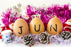 Maandelijkse kalender - Juni Royalty-vrije Stock Afbeelding