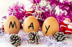 Maandelijkse kalender - Mei Royalty-vrije Stock Afbeeldingen