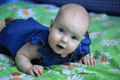5-maanden babymeisje Stock Fotografie