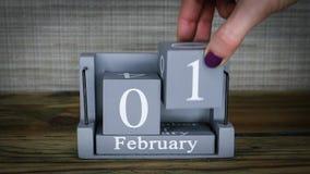 01 maanden van kalenderfebruari stock video
