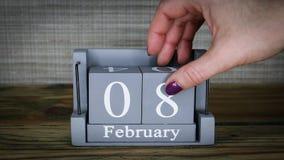 08 maanden van kalenderfebruari stock videobeelden