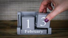 13 maanden van kalenderfebruari stock videobeelden
