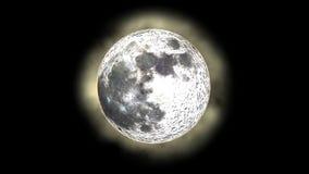 Maanfasen met absoluut realistische halo vector illustratie