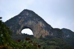 Maanheuvel, Karst landschap van Yangshuo, Guilin, Guangxi, China royalty-vrije stock afbeeldingen