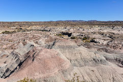 Maanlandschap in het Nationale Park van Ischigualasto, Argentinië Royalty-vrije Stock Afbeeldingen