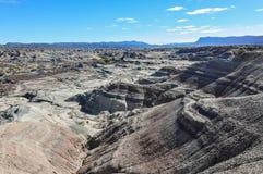 Maanlandschap in het Nationale Park van Ischigualasto, Argentinië Stock Fotografie