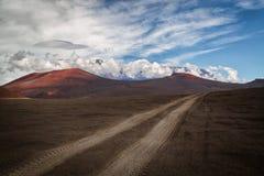 Maanlandschap, Klyuchevskoy-Park, Kamchatka Stock Foto's