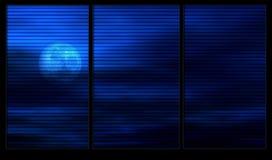 Maanlicht door het venster royalty-vrije illustratie