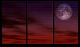Maanlicht door het venster stock illustratie