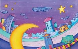 Maanlichthuizen Royalty-vrije Stock Afbeelding