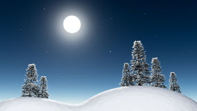 Maanlichtnacht in bos Royalty-vrije Stock Foto