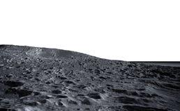 Maanoppervlakte De ruimtemening van de aarde isoleer het 3d teruggeven Stock Afbeelding
