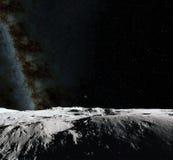 Maanoppervlakte Realistische 3d geeft van maan en ruimte terug Ruimte en planeet Satelliet necropool Sterren Elementen van dit be vector illustratie