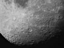 Maanoppervlakte in zwart-wit royalty-vrije stock foto's