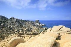 Maanvallei in het eiland van Sardinige, Italië stock afbeelding