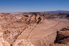 Maanvallei in San Pedro de Atacama in Atacama-Woestijn in Chili stock foto