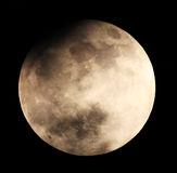 Maanverduistering voor een achtergrond 25.04.13. Stock Afbeelding