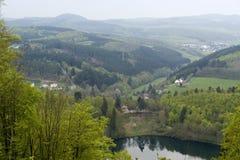 Maar in the Vulkan Eifel Stock Images