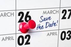 26 maart Royalty-vrije Stock Foto's