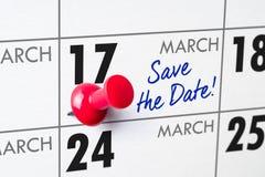 17 maart Royalty-vrije Stock Afbeelding