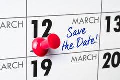 12 maart Royalty-vrije Stock Foto