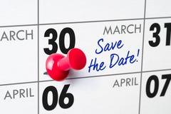 30 maart Stock Fotografie