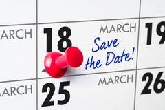 18 maart Stock Foto's