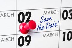 02 maart Royalty-vrije Stock Afbeeldingen