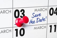 03 maart Stock Afbeeldingen