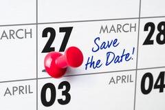 27 maart Royalty-vrije Stock Afbeelding