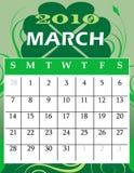 Maart 2010 stock illustratie