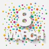 8 Maart Royalty-vrije Stock Afbeeldingen