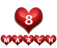 8 Maart Stock Afbeelding