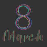 8-maart Stock Afbeeldingen