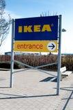 20 maart, 2018, Ballymun, het teken van de de opslagingang van Dublin, Ierland - van IKEA Dublin Royalty-vrije Stock Afbeelding