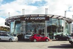 8 maart, 2018, Cork, de toonzaal van Ierland - van het de autohandel drijven van Kearys Hyundai Royalty-vrije Stock Fotografie