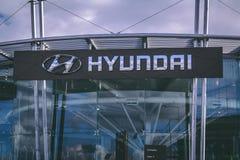 8 maart, 2018, Cork, de toonzaal van Ierland - van het de autohandel drijven van Kearys Hyundai Stock Afbeelding