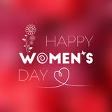 8 maart De dag van internationale vrouwen Royalty-vrije Stock Foto