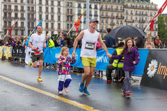 Maart, 3de 2015 harmoniemarathon in Genève zwitserland Royalty-vrije Stock Afbeeldingen
